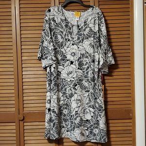 Ruby Rd Black & White Floral Dress size 2x